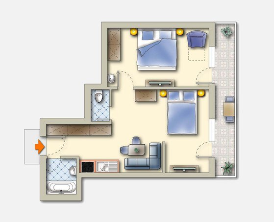 Skizze Apartment B